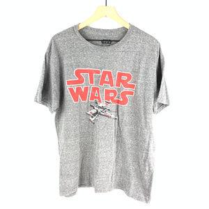 Star Wars Men's Gray Rebel Fighter Tee Sz XL